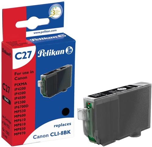 Pelikan inktcartridge zwart, 400 pagina's voor Canon CLI-8BK - OEM: 0620B001