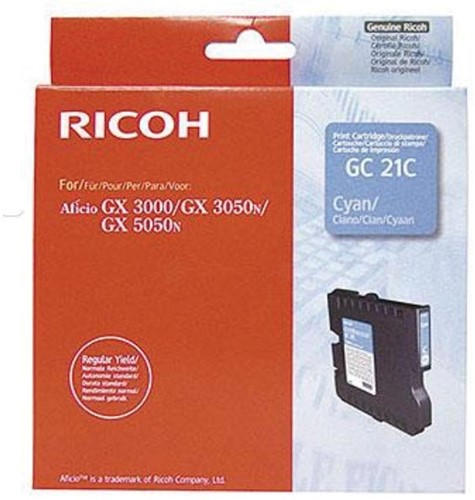 Ricoh gel cartridge GC21C cyaan, 1000 pagina's - OEM: 405533