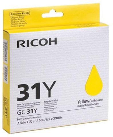 Ricoh gel cartridge GC31Y geel, 1750 pagina's - OEM: 405691