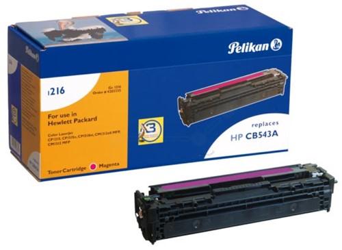 Pelikan toner magenta, 1400 pagina's voor HP 125A - OEM: CB543A