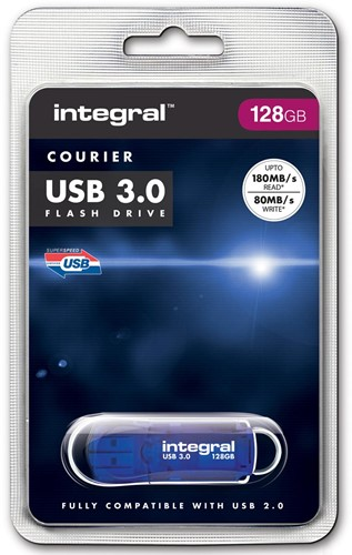 Integral Courier USB 3.0 stick, 128 GB