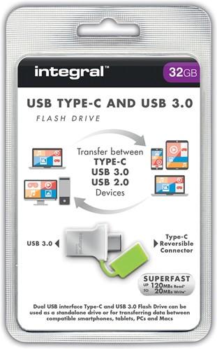 Integral Fusion USB 3.0 stick, 32 GB, zilver 1 Stuk