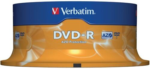 Verbatim DVD recordable DVD-R, spindel van 25 stuks 25 Stuk