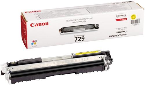 Canon toner 729Y, 1.000 pagina's, OEM 4367B002, geel 1 Stuk
