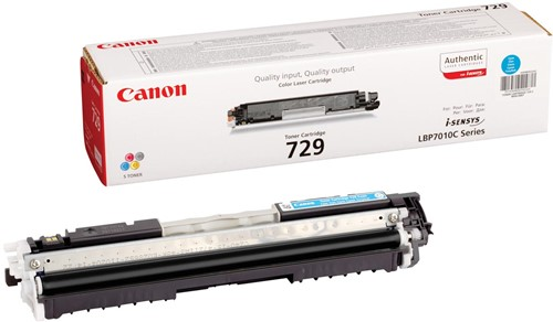 Canon toner 729C, 1.000 pagina's, OEM 4369B002, cyaan 1 Stuk