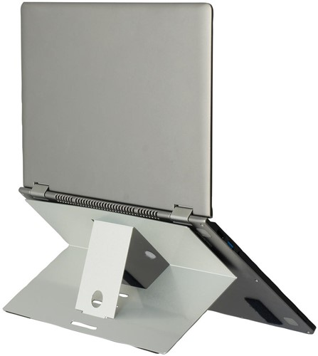 R-Go Riser Attachable laptopstandaad, zilver