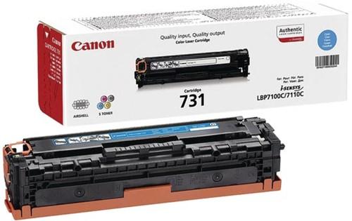 Canon toner 731C, 1.500 pagina's, OEM 6271B002, cyaan 1 Stuk