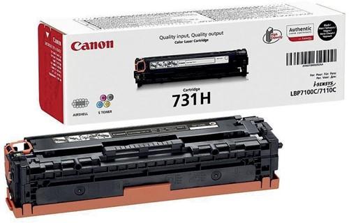 Canon toner 731H, 2.400 pagina's, OEM 6273B002, zwart 1 Stuk