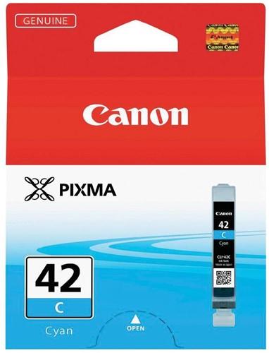 Canon inktcartridge CLI-42C, 600 foto's, 13 ml, OEM 6385B001, cyaan 1 Stuk