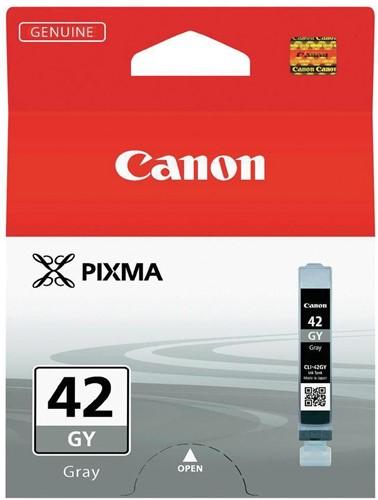 Canon inktcartridge CLI-42GY, 492 foto's, 13 ml, OEM 6390B001, grijs 1 Stuk