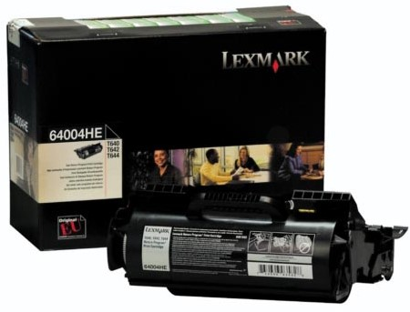 Lexmark Tonercartridge zwart return program voor Etiketten - 21000 pagina's - 64004HE