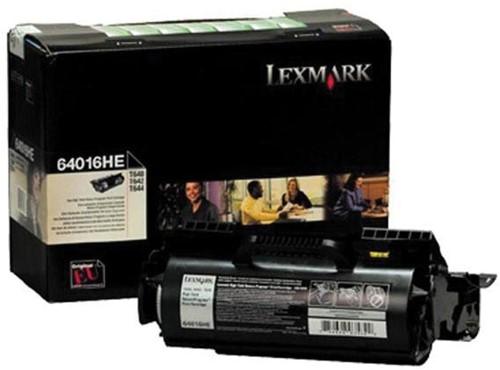 Lexmark Tonercartridge zwart return program - 21000 pagina's - 64016HE 1 Stuk