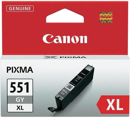 Canon inktcartridge CLI-551GY-XL, 3.350 pagina's, OEM 6447B001, grijs 1 Stuk
