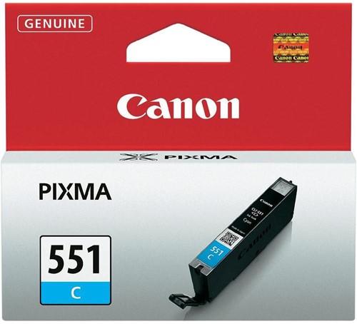 Canon inktcartridge CLI-551C, 332 pagina's, OEM 6509B001, cyaan 1 Stuk