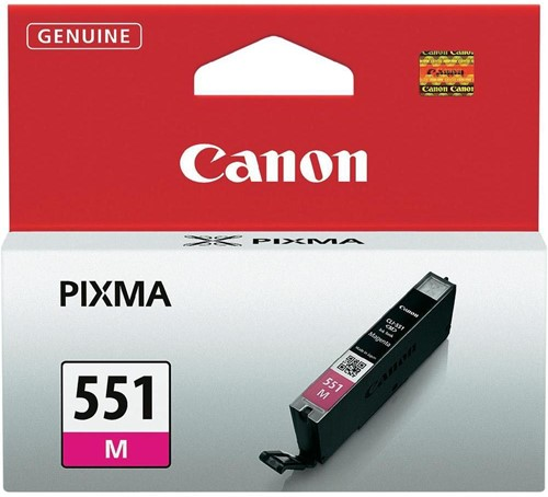Canon inktcartridge CLI-551M, 319 pagina's, OEM 6510B001, magenta 1 Stuk