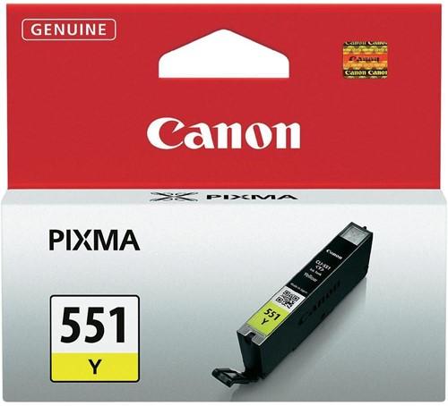 Canon inktcartridge CLI-551Y, 344 pagina's, OEM 6511B001, geel 1 Stuk