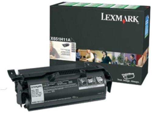 Lexmark Tonercartridge zwart return program - 25000 pagina's - X651H11E 1 Stuk