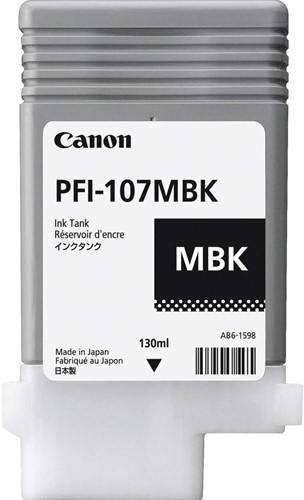 Canon inktcartridge PFI-107, 130 ml, OEM 6704B001, mat zwart 1 Stuk