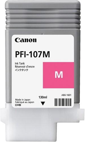 Canon inktcartridge PFI-107, 130 ml, OEM 6707B001, magenta 1 Stuk