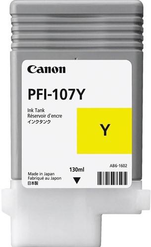 Canon inktcartridge PFI-107, 130 ml, OEM 6708B001, geel 1 Stuk