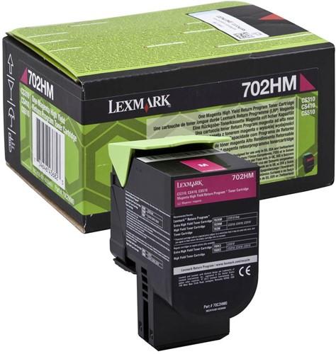 Lexmark toner magenta return program 702HM, 3000 pagina's - OEM: 70C2HM0 1 Stuk