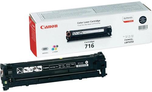 Canon toner 716BK, 2.300 pagina's, OEM 1980B002, zwart 1 Stuk