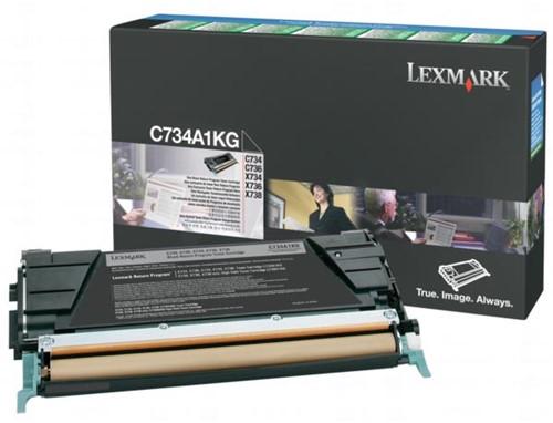 Lexmark Toner Kit zwart return program - 8000 pagina's - C734A1KG 1 Stuk