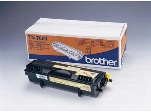 Brother toner, 6.500 pagina's, OEM TN-7600, zwart 1 Stuk