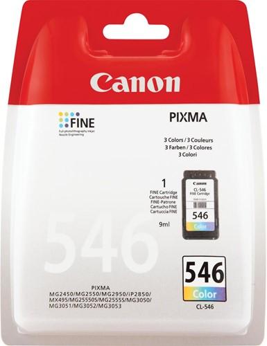 Canon inktcartridge CL-546, 180 pagina's, OEM 8289B001, 3 kleuren 1 Stuk