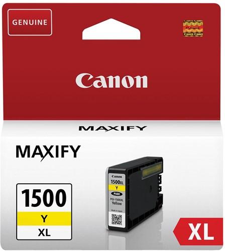 Canon inktcartridge PGI-1500XL, 935 pagina's, OEM 9195B001, geel 1 Stuk