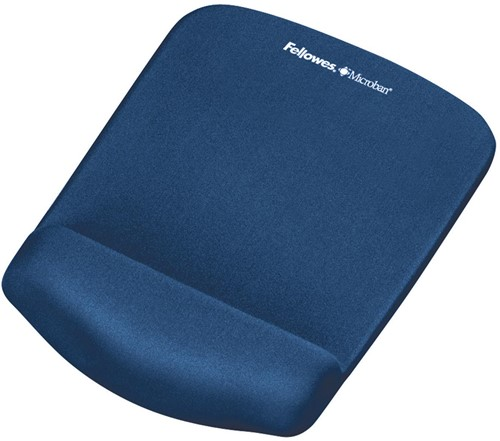 Fellowes PlushTouch muismat met polssteun, blauw